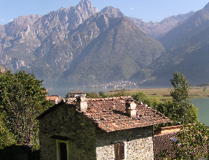 view of little  mezzola lake